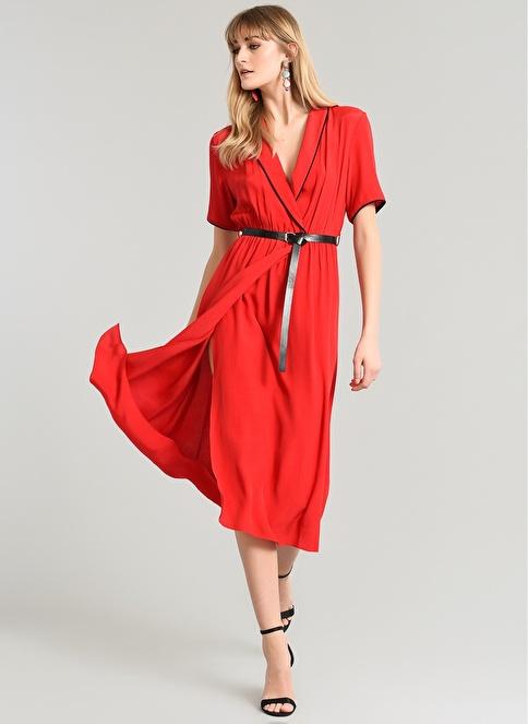 People By Fabrika Biye Detaylı Elbise Kırmızı